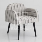 (EDT3011) Strip pattern Chair - A