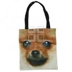 (EBG0002) Dog Face Tote Bag