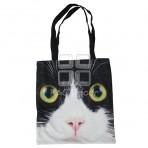 (EBG0008) Cat Face Tote Bag