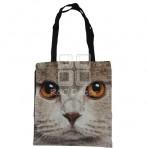 (EBG0012) Cat Face Tote Bag