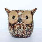 (EFP0019) Glazed Owl Flower Pot