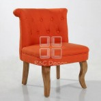 (EDT3047) Orange Sofa