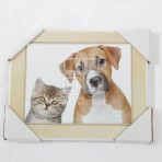 (EPF0021) MDF Dog and Cat Hanging Plaque