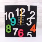(ELW0006) Plastic Numbers Wall Clock