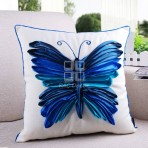 (ECC0004) Piped 3D Butterfly Cushion
