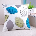 (ECC0006) Print / Embr Leaves Cushion